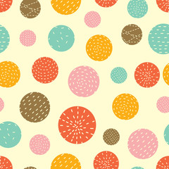 Spring seamless pattern. Polka dot.