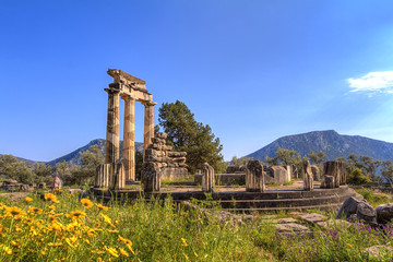 Wall Mural - The Temple of Apollo,Delphi,Greece