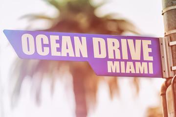 Ocean Drive Miami Street Sign