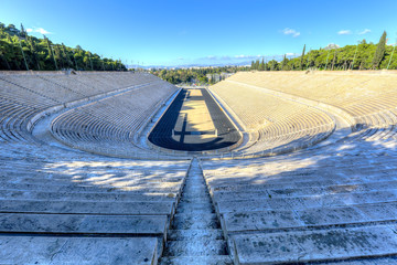 The Panathenaic Stadium in Athens,Greece