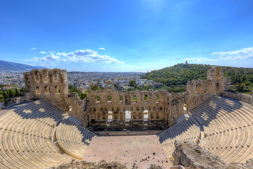 Fototapete - The Odeon of Herodes Atticus in Athens,Greece