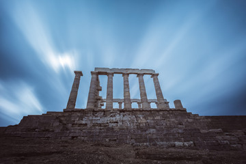 Fototapete - Temple of Poseidon at Cape Sounion in Greece