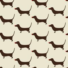 Christmas dachshund Pattern