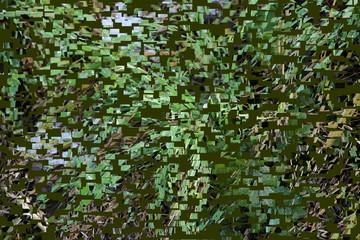 Kubisches Muster, Hintergrung in grün und grau