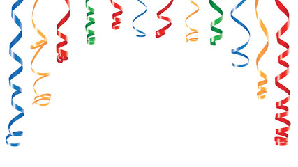 Color decorations ribbons banner