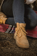 Close up of a Mountain Female Boot