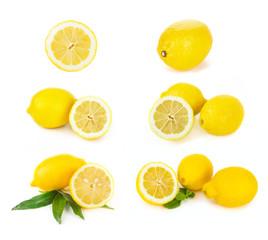 Set of Lemon citrus fruits