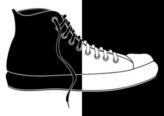 Basket en noir et blanc