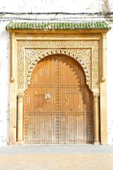 historical in  antique building door morocco style africa