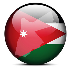 Map on flag button of Jordan