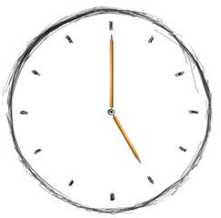 sketch clock