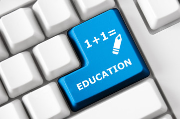 Color button on the keyboard with education image