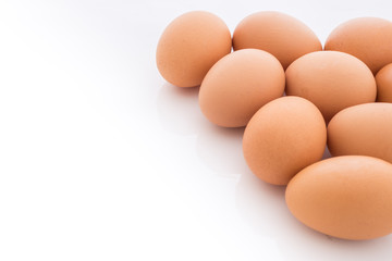 eggs arranged in corner is isolated