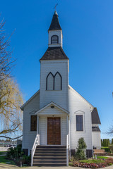 Front Entrance of Milner Chapel in Langley British Columbia