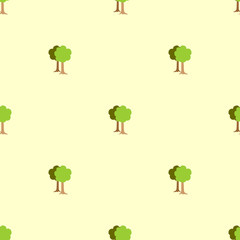 Cute seamless pattern with trees