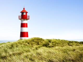 Garden Poster Lighthouse Rot-Weißer Leuchtturm