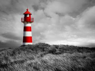 Printed roller blinds Lighthouse Rot-Weißer Leuchtturm