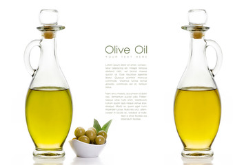 Extra Virgin Olive Oil. Design Template Isolated on White