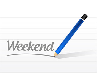 weekend message sign illustration design