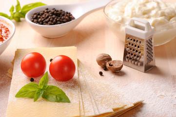 Italian lasagne with fresh ingredients