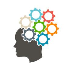 Head in gears logo