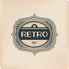 Retro logo elements