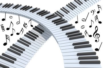 piano keyboard abstract isolated