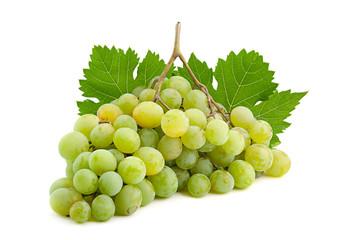 Green grape on white