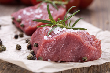 The raw beef