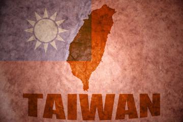 taiwan vintage map