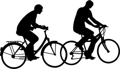 Wall Mural - COUPLE DE CYCLISTES,