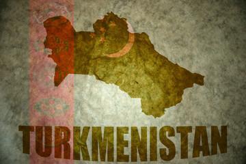 turkmenistan vintage map
