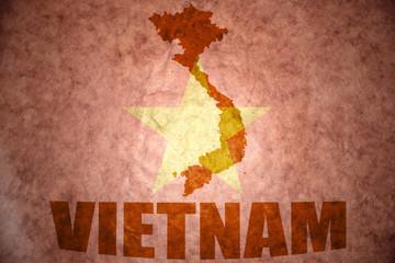 vietnam vintage map