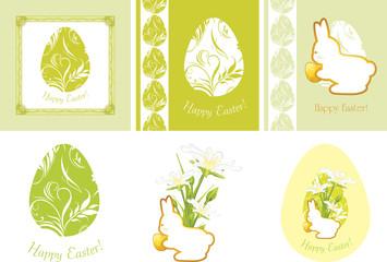 Easter decorative elements for design