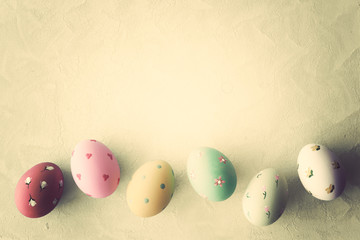 Vintage hand-painted easter eggs