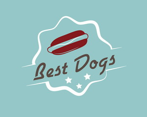 Vintage hotdog emblem