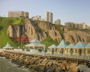 Commercial Stores at the Beach in Lima Peru