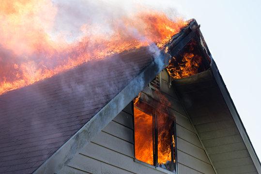 Rooftop blaze