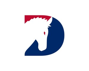 red white blue democrat party logo 35