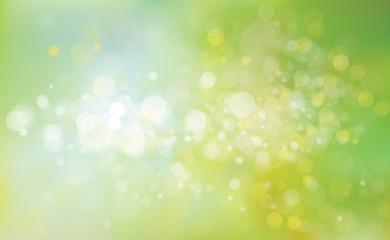 Vector green lights background.