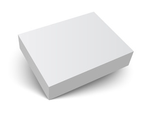 blank packaging box with shadow