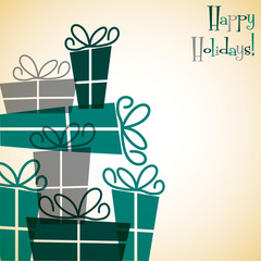 Collection of Christmas retro presents card in vector format.