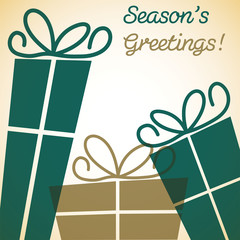 Christmas overlay present card in vector format.