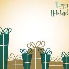 Gift box Christmas card in vector format.