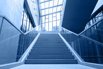 empty office stairs