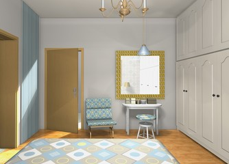 Mix and match colors,shapes,materials in classic master bedroom