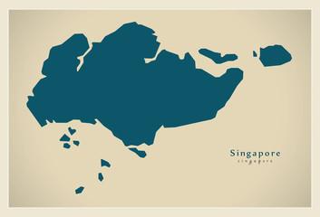 Modern Map - Singapore SG