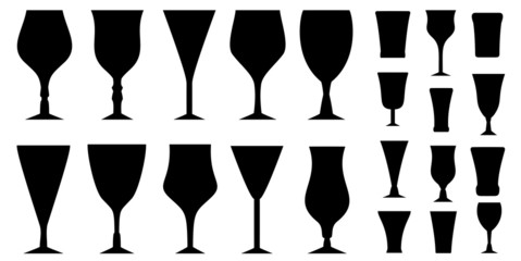 set glass for alcohol beverage
