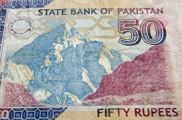 Karakoram Peak on Banknote
