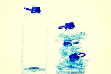 Plastic bottles.